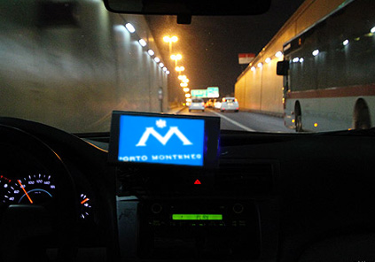Taxi navigation screen